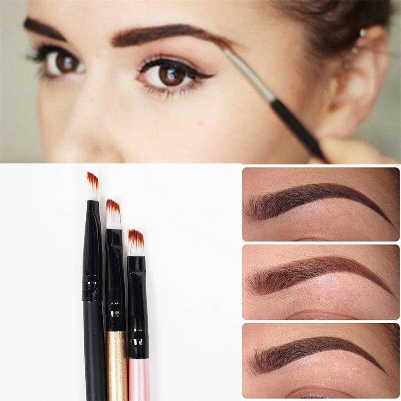 3pcs/lot Super Soft Professional Oblique Makeup Eyebrow Brush Eyeshadow Blending Angled Brush Comestic Make up Tool #M02212