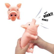 Porco de borracha faz barulho, brinquedo para cachorros de grande porte, 1 peça brinquedo com voz para cachorros 35