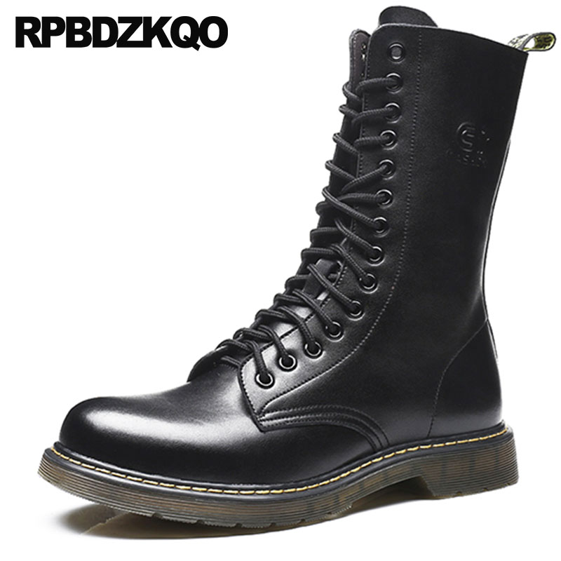waterproof military autumn black british style combat mid calf shoes army warm faux fur tall plus size winter men boots withwaterproof military autumn black british style combat mid calf shoes army warm faux fur tall plus size winter men boots with