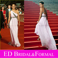 Halle Berry Dress at 12th Annual Shanghai Film Festival Red Carpet One Shoulder Pink Chiffon Evening Gown Long Prom Dress