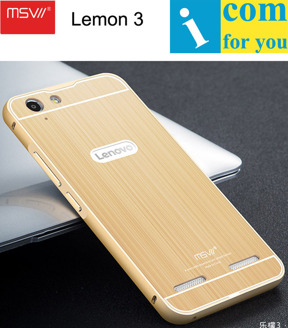 cheap for discount 9089c d1cfe MSVII Aluminum Case For Lenovo Vibe K5 Plus Brushed Acrylic PC Cover +  Metal Frame on Aliexpress.com | Alibaba Group