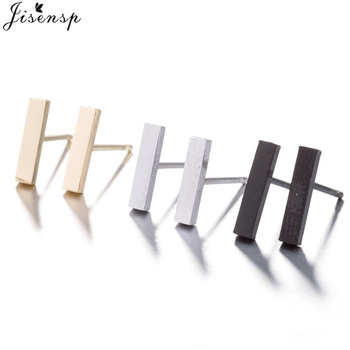 Jisensp 2019 Punk Simple T Bar Stud Earrings for Women Girls Geometric Stud Earrings Jewelry Mother.jpg 350x350 - Jisensp 2019 Punk Simple T Bar Stud Earrings for Women Girls Geometric Stud Earrings Jewelry Mother's Day Gift Brincos Bijoux