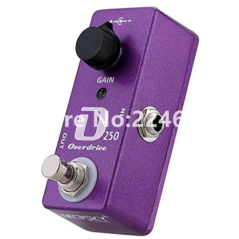 Mosky Mini D250 Overdrive Pedal Electric Guitar Effect Pedal With True Bypass GFuitar Accessories aroma adr 3 dumbler amp simulator guitar effect pedal mini single pedals with true bypass aluminium alloy guitar accessories