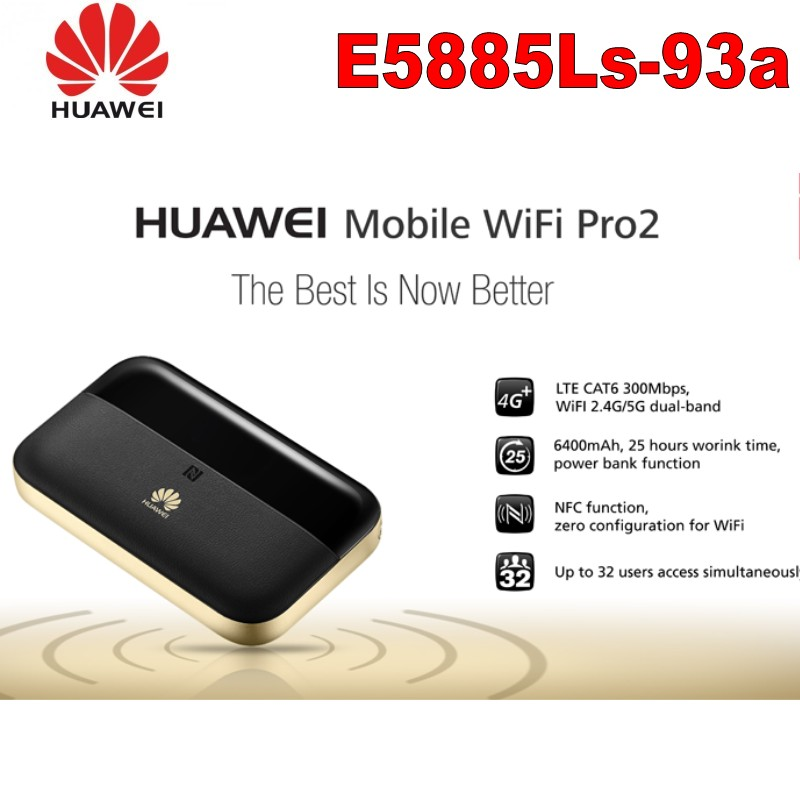 Huawei E5885Ls-93a Cep WiFi Pro2 Router RJ45 port 4G + FDD: b1/B2/B3/B4/B5/B7/B8/B20/B19 TDD: b38/B40/B41 (2555-2655 MHz) 6400 MahHuawei E5885Ls-93a Cep WiFi Pro2 Router RJ45 port 4G + FDD: b1/B2/B3/B4/B5/B7/B8/B20/B19 TDD: b38/B40/B41 (2555-2655 MHz) 6400 Mah