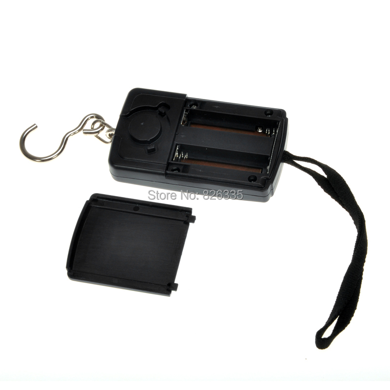 Pocket Electronic Digital Scale 0.01kg * 40kg Hanging Luggage Weight Balance Steelyard  Black