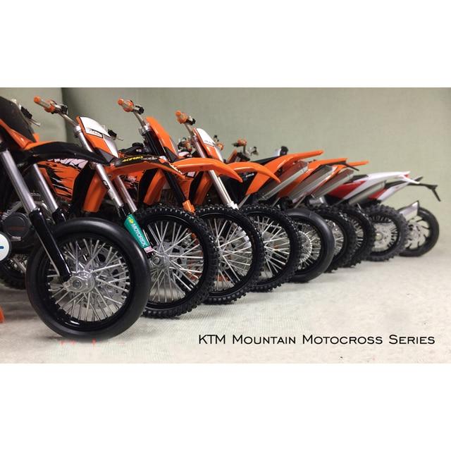 1:12 KTM Górski Motocross Motocykli Off-Road Statyczny Model Kolekcja Rysunek Model Gotowego Produktu