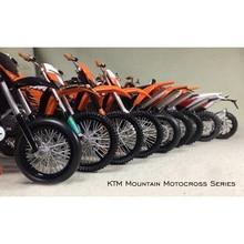 1:12 KTMภูเขาวิบากOff Roadรถจักรยานยนต์รุ่นเก็บรูปรุ่นผลิตภัณฑ์สำเร็จรูปแบบคงที่