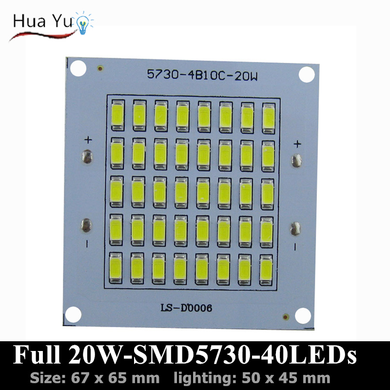 10 PCS 100% Full Power <font><b>led</b></font> PCB 20W 2000lm SMD5730 <font><b>led</b></font> chip,65x67mm <font><b>led</b></font> floodlight board, Aluminum plate <font><b>base</b></font> <font><b>for</b></font> <font><b>LED</b></font> floodlight