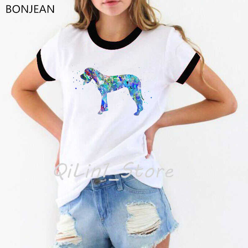 Moderno Fresco Aquarela Dachshund T-Shirt femme Verão Das Mulheres Da Forma T Camisa Menina Bonita Casual Top camiseta Cão Bonito do Projeto Da Arte