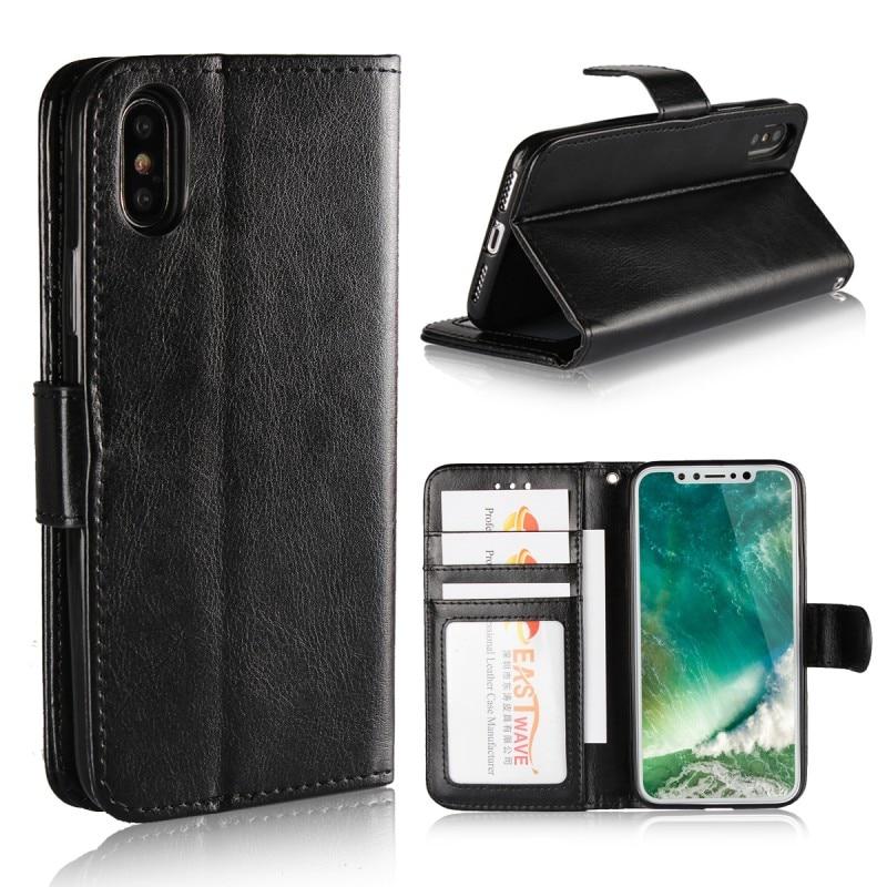 100 PC porte-photo étuis pour Apple iPhone 8 plus 8 Plus X étui en cuir portefeuille couverture carte Slot Coque Etui Hoesje téléphone accessoire
