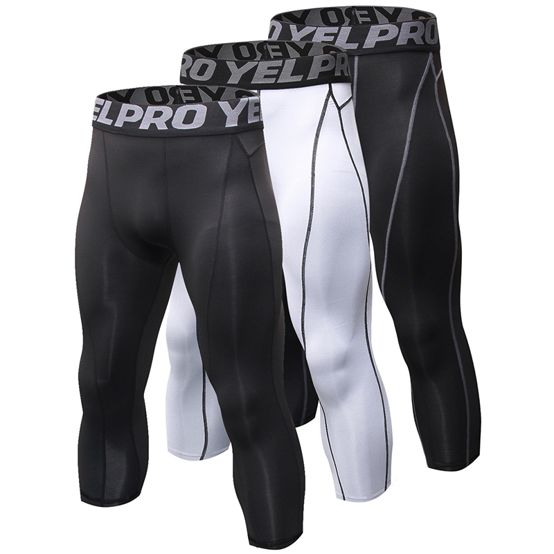 Men Compression Shorts Baselayer Cool Dry Sports Gym Tights Running Leggings New