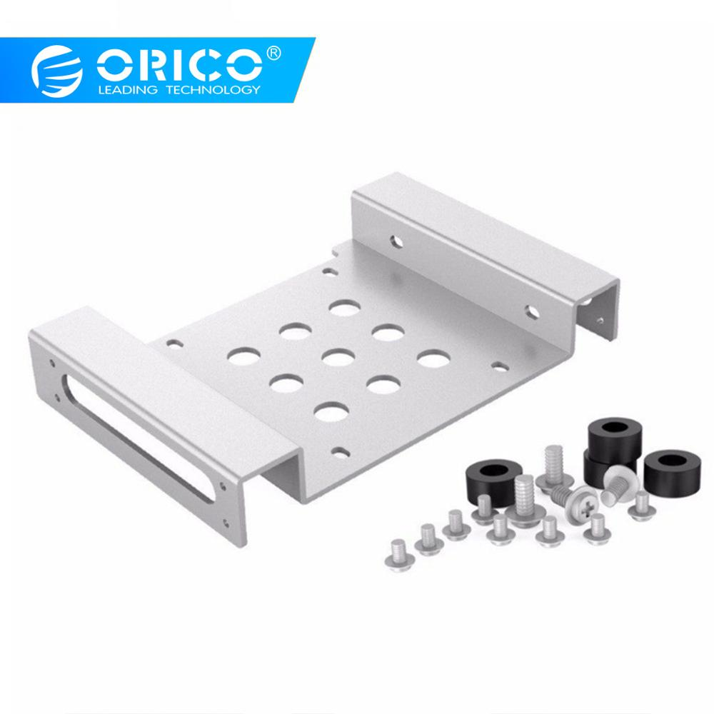 ORICO 5.25-Inch HDD Mounting Bracket Bay to 3.5 Inch Hard Drive Rack Aluminum Hard Drive Caddy For PC SSD HDD Enclosure