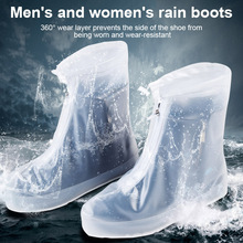 1 Pair Unisex Waterproof Shoes Cover Lightweight Anti-slip Resuable Wear-resistance Overshoes BS88