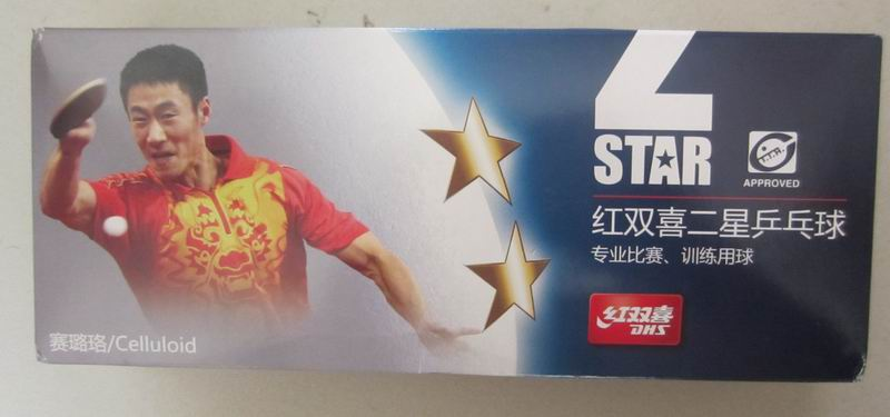 Original DHS 2 stars new packing table tennis balls table tennis racket racquet sports d ...