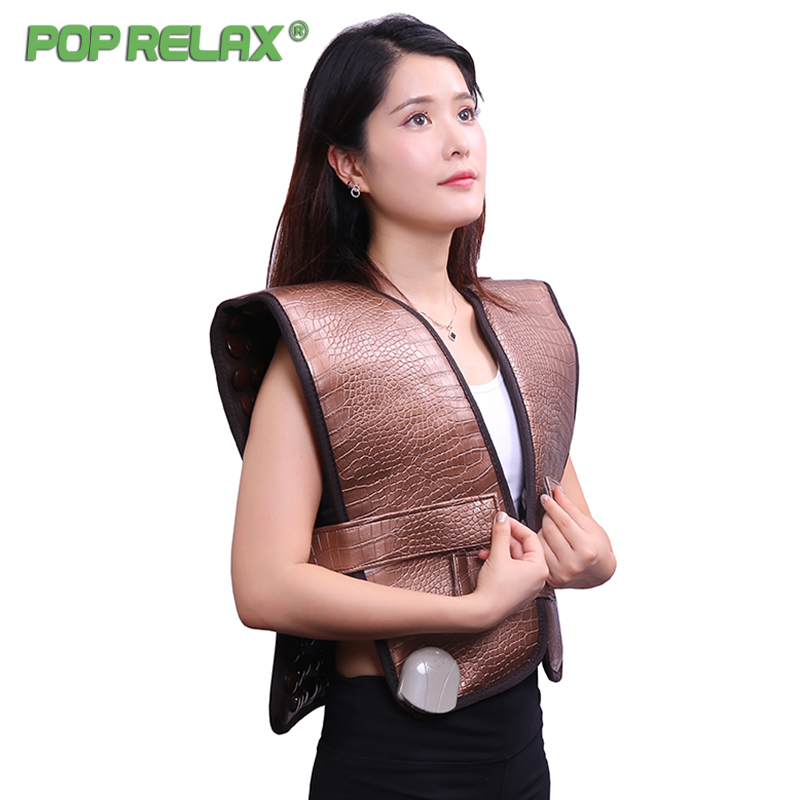 Pop Relax Healthy Electric Heating Therapy Cervical Belt Tourmaline Products Physiotherapy Device Mat Shoulder Back Massage Belt pop relax healthy electric heating therapy cervical belt tourmaline products physiotherapy device mat shoulder back massage belt
