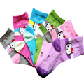 2016 Spring &autumn 12pcs=6 pairs / lot children socks cartoon cat 6 colors cotton kids  girls socks 1-12 year baby socks