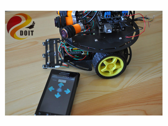 rc Car Chassis Suite robot diy rc toy wireless control by phone Bluetooth starter development kit uno r3 avr raspberry pi