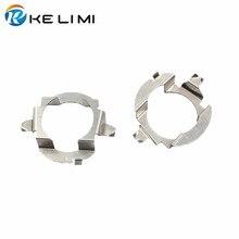 KE LI MI H7 LED headlight adapter for Mercedes-Benz E class ML350 H7 Metal retainer clips fastener for VW Touareg Skoda