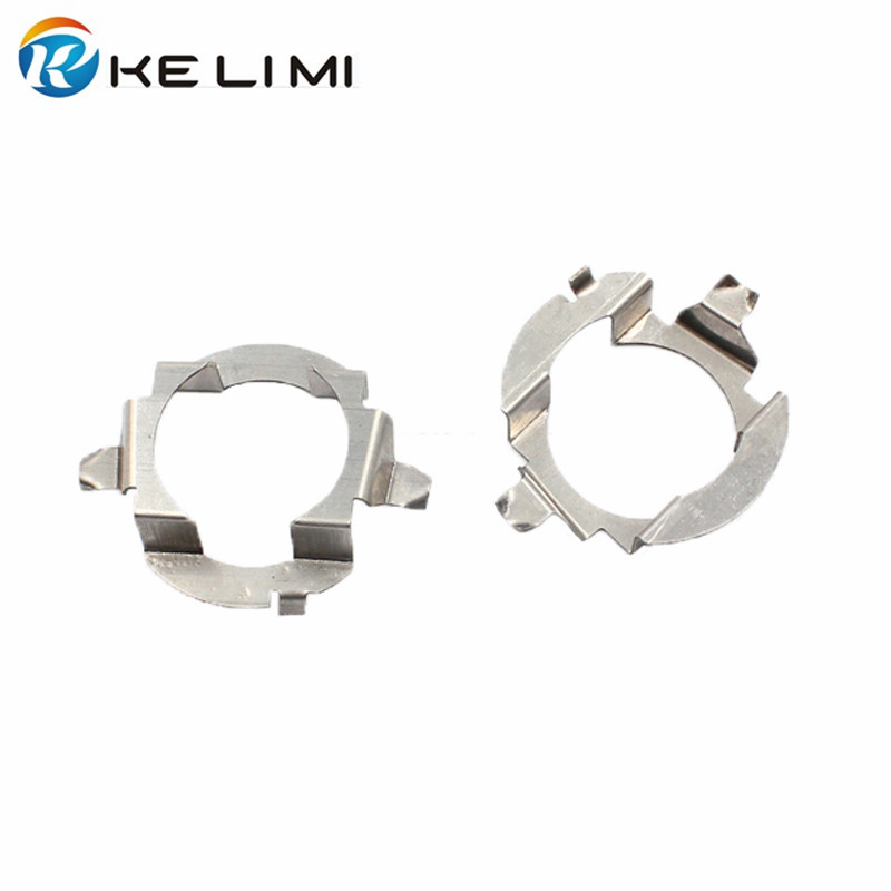 Kelimi H7 LED Headlight Adapter For Mercedes-Benz E Class ML350 H7 Metal Retainer Clips Fastener For VW Touareg Skoda