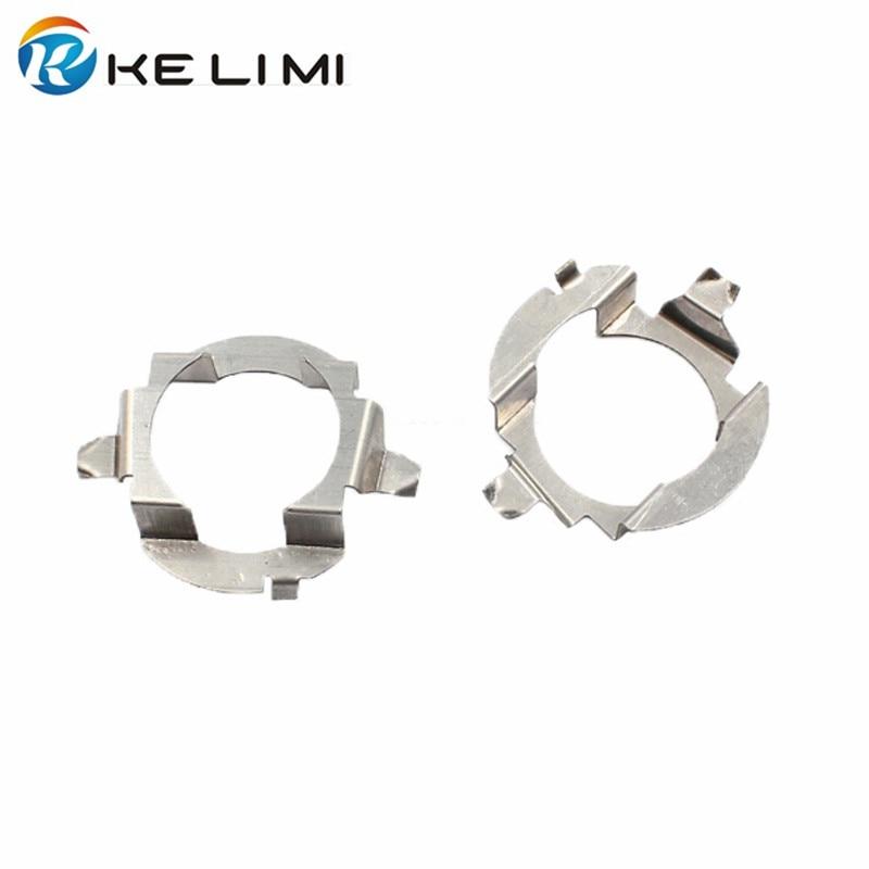 Kelimi H7 LED Headlight Adapter For Mercedes-Benz E Class ML350 H7 Metal Retainer Clips Fastener For VW Touareg Skoda