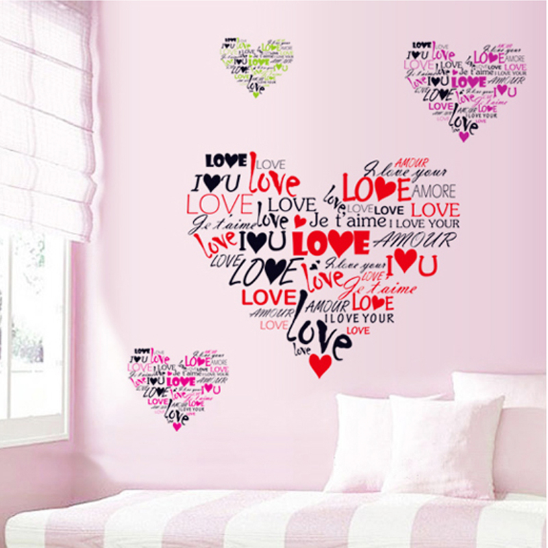 Multi Language I Love You Wall Decals Home Decorative