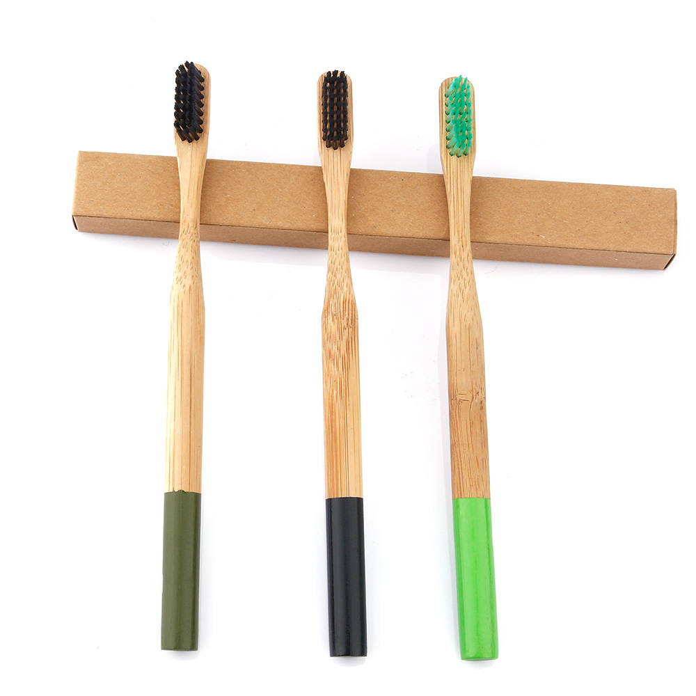 Bamboo Toothbrush Activated Charcoal Extra-Soft Bristles Teeth Whitening Oral Hygiene Care Cleaning Antibacterial Tooth Brush image
