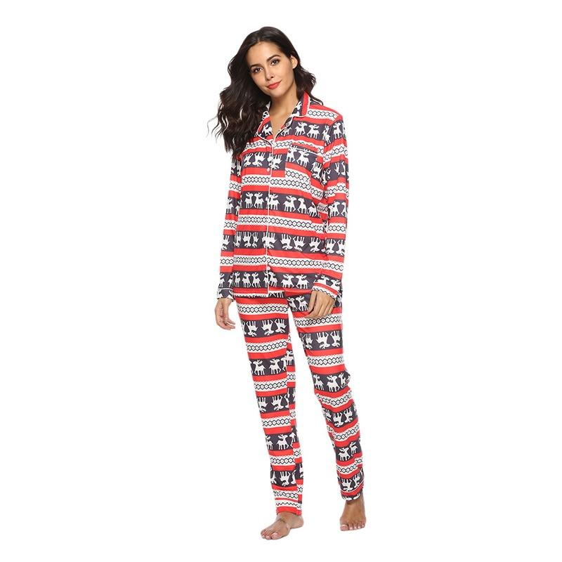 Hard-Working Vertvie Brand 2019 New Running Sets Women's Christmas Pajamas Set Winter Elk Band Bandwidth Loose Long Sleeve Home Clothing