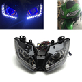 HID Angel Eye Projector Headlight Assembly (Built-In LED) for Kawasaki NINJA250 2013-2016, NINJA300 2013-2016, ZX-6R 13-16