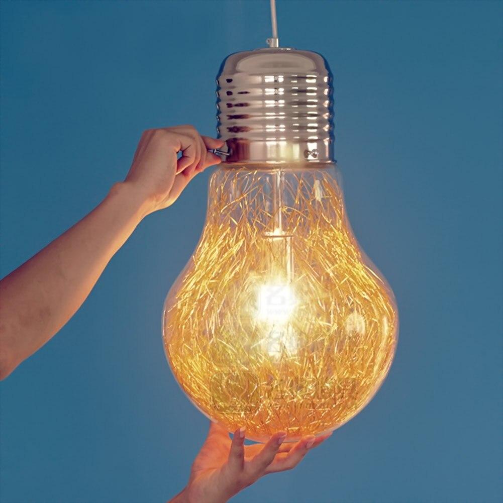 Metal+Glass E26/E27 Vintage Industrial Copper Retro Glass Lamp Pendant Lighting For Restaurant Living Room Glass LED Lamp