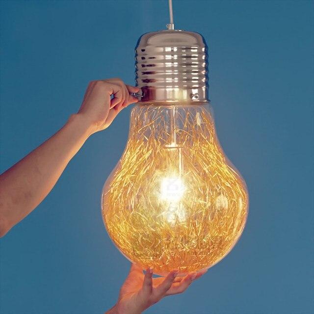 Metall + Glas E26/E27 Jahrgang Industrielle Kupfer Retro Glas Lampe ...
