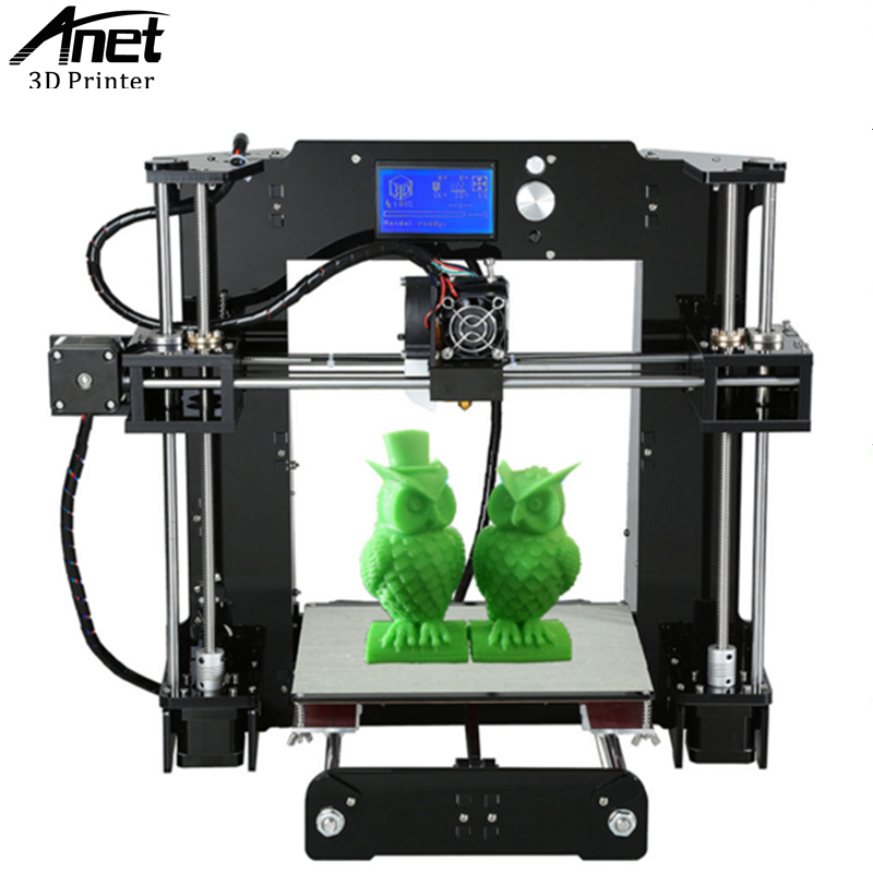 ANET A6 3D printer  Prusa i3 Reprap 3D Printer High Precision Easy Assembly Filament DIY Kit SD card LCD screen Moscow Warehouse 2017 new anet easy assemble 3d printer upgrated reprap prusa i3 3d printer large print size kit diy with filament 16gb sd card