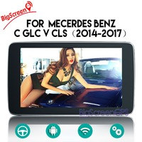 Quad Core CD DVD Player 2 Din Stereo Android Car Radio for Mecerdes Benz C GLC V CLS 2014 2017 GPS Navigation Autoradio Recorder
