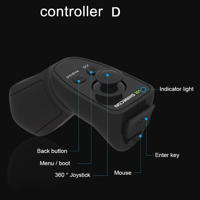 VR Shinecon 2.0 Google Cardboard VR BOX 2.0 Virtual Reality goggles VR 3D Glasses Immersive for 4.5-6.0 inch smartphones 7