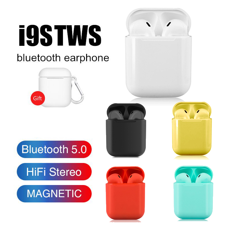 I9s TWS Brand New Candy Colorful Wireless Mini Bluetooth Earbuds Portable Sports Wireless Mini Headphones Stereo Bluetooth V5.0