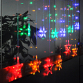2M 138 LED Curtain Star String Party Fairy Light 8 Swith mode Christmas Decoration LED Lights 220V EU