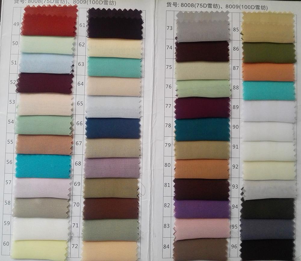 100D chiffon color 2