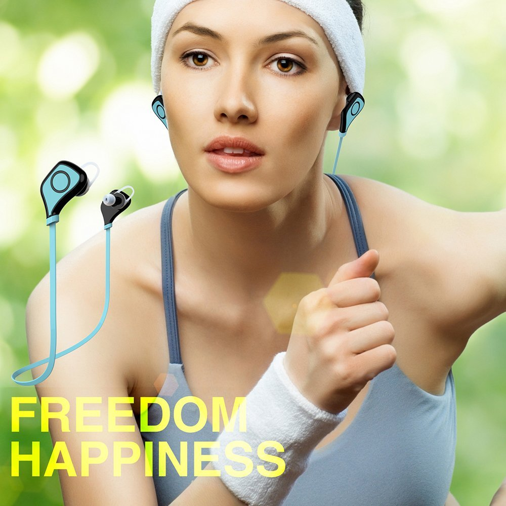 Wireless Bluetooth Earphones Mini Portable Exercise Headset Noise Cancelling Bluetooth Earbuds Earphone For Smartphones Tablets