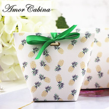 30pcs pineapple candy box wedding decoration like gift carton party supplies Bonbonniere baby shower birthday