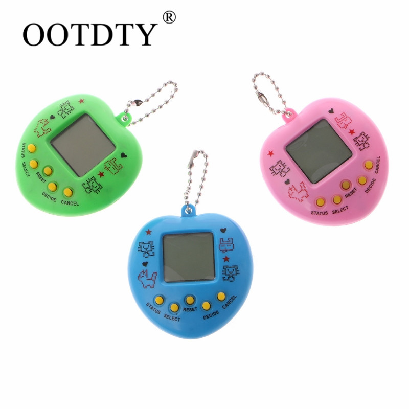 1pc electronic pet game machine Tamagochi 168 pet in 1 Learning Education toys For children 6*5CM