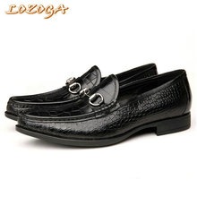 High quality shoes men casual shoes genuine leather shoes alligator chaussure homme black shoes slip-on flats zapatos size 38-44