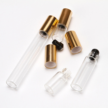 5 unids/lote de 2ml, 3ml, 5ml, 10ml, botella de rodillo transparente para aceites esenciales, botella de Perfume, recargable envases de desodorante