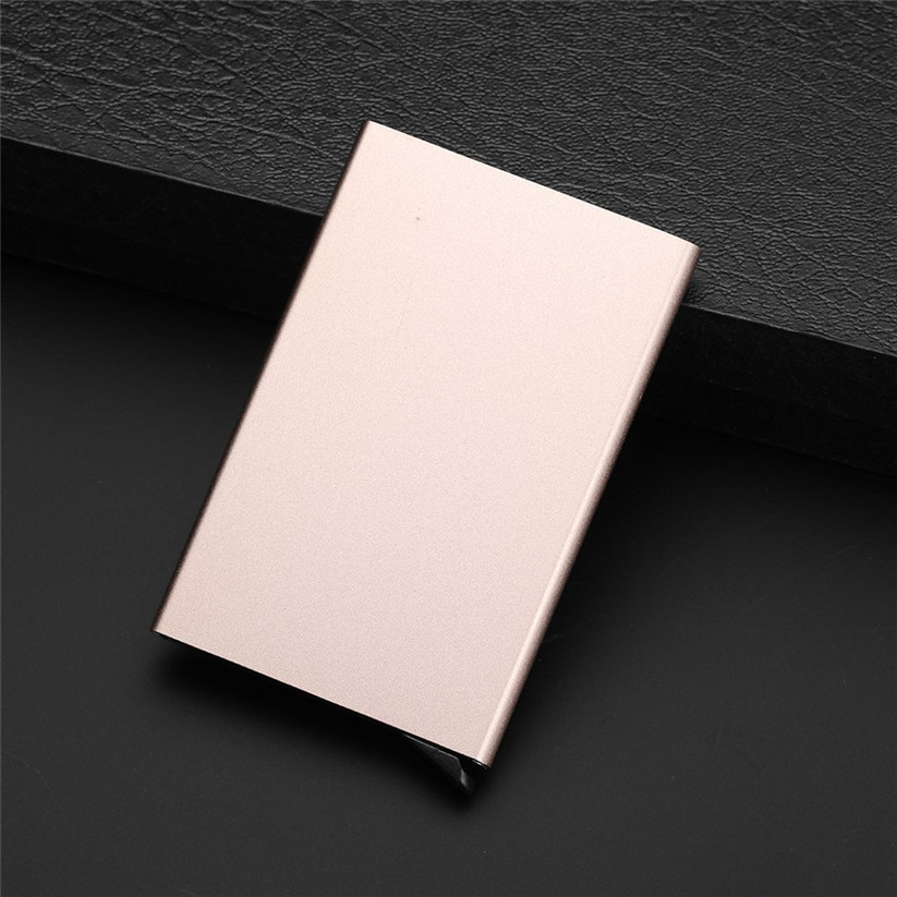 2018 Men Women thin Business ID Credit Card Holder Wallets Pocket Case RFID Aluminum Wallet DIY Color Card Holder #B