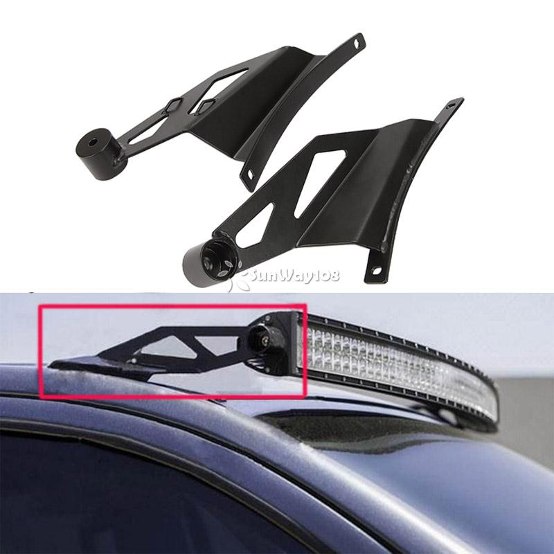 Auxmart 50 inch curved light bar mount brackets for ford f150 pickup auxmart 50 inch curved light bar mount brackets for ford f150 pickup truck 2009 2014 upper windshield light mounting bracket in base from automobiles aloadofball Image collections