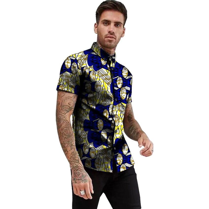 e62fc735e249d Spring Fashion Mens Dress shirts Africa Festive Clothing Ankara ...