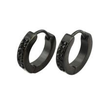 6 pairs/lot 4 мм * 9 mm делает орать для мужчины с stainelss сталь черный покрытие с черный кристалл
