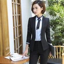 8efe90933b40 Uniforme convenzionale Disegno Blazers Con Giacche E Pantaloni Per Le  Signore Ufficio Dell attività Lavori