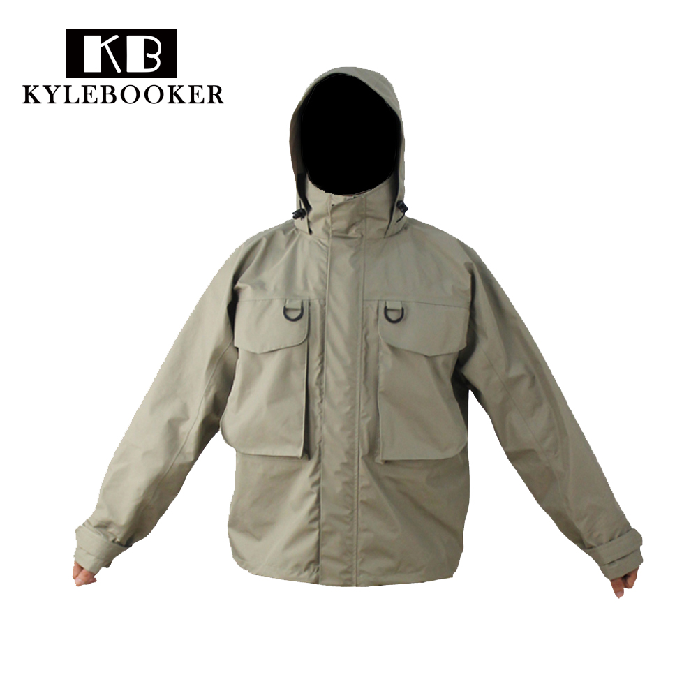 Kylebooker breathable fly fishing wading jacket waterproof for Waterproof fishing jacket