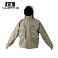 Kylebooker Breathable Fly Fishing Wading Jacket Waterproof Fishing Wader Jacket Clothes