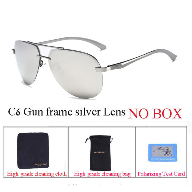 fa403231673 2018 reggaeon Polarized sunglasses Aluminum Magnesium frame Spring hinge  Polaroid Lens Women sun glasses uv400 Men Rimless pilot