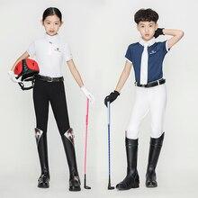 Детские брюки для верховой езды из дышащей эластичной ткани